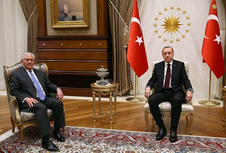 Erdoğan Tillerson Görüşmesi Sona Erdi