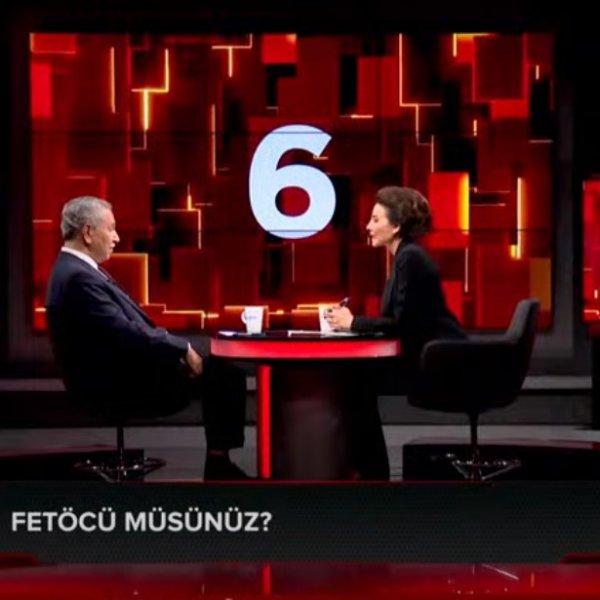 Bülent Arınç'a canlı yayınca 'FETÖ'cü müsünüz' sorusu