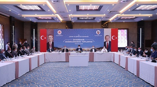 Çevre ve Şehircilik Bakanı Murat Kurum Diyarbakır'da