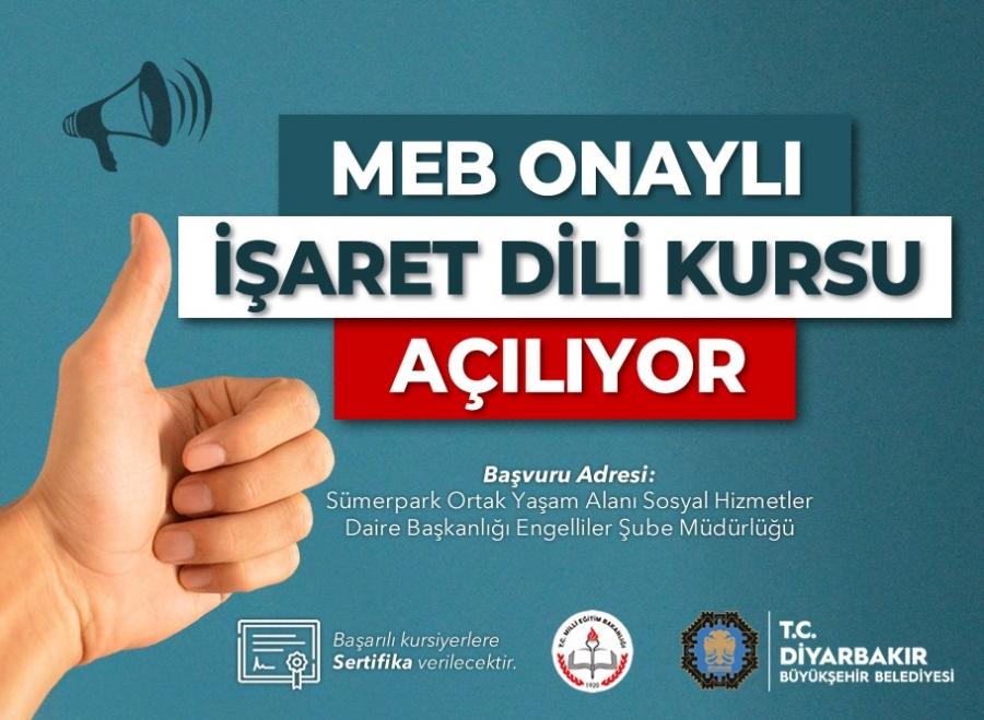 Diyarbakır'da İşaret Dili Kursu