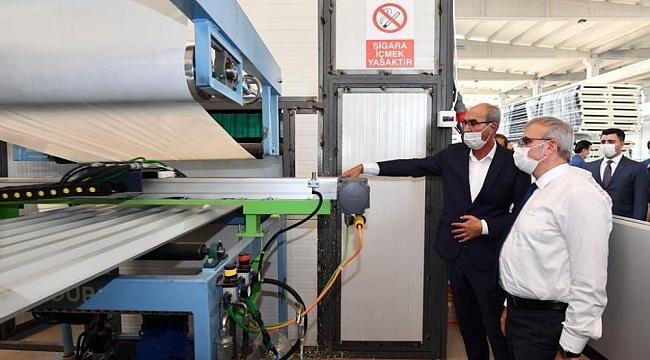 Vali Karaloğlu Organize Sanayi Bölgesi'ni ziyaret etti