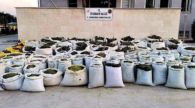 Lice kırsalında 2 ton 628 kilo esrar ele geçirildi