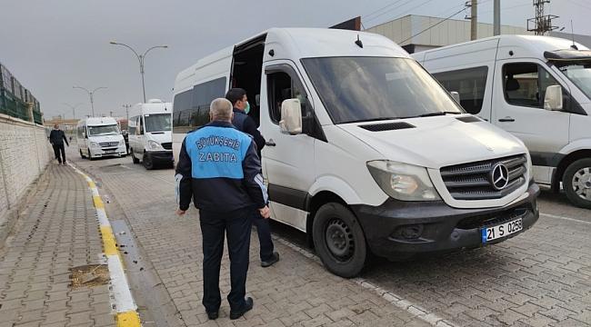 Diyarbakır'da servis araçlarına sıkı denetim