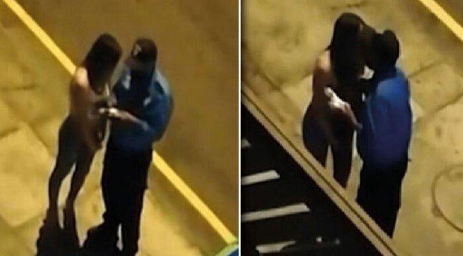 Peru'da polisten sokağa çıkma yasağını ihlal eden kadına ceza yerine öpücük