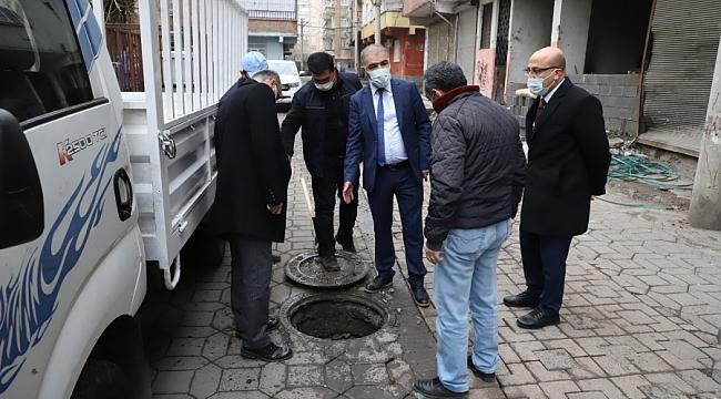 Tutşi, Kanalizasyon Şebekelerini İnceledi