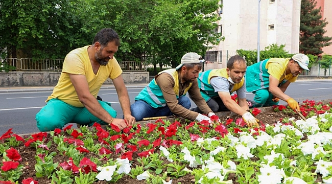 """""""Tam Kapanma""""da Diyarbakır çiçeklerle süslendi"""